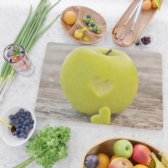 Apple Heart Cutting Board, Green Apple Kitchen Decor