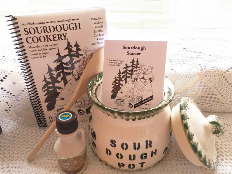 Alaska Sourdough Pot Kit w/Cookbook image 0