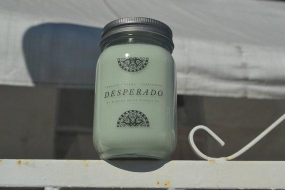 Desperado Mason Jar Soy Candle Etsy