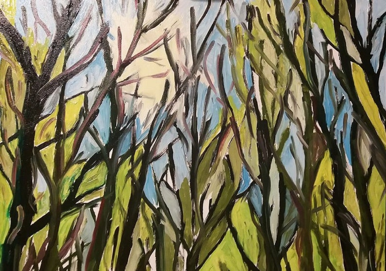 Walk out in the forest  Oil painting  Original art work  image 0
