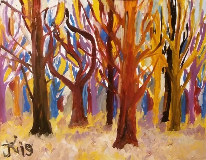 Autumn  Oil painting  Landscape  Nature  Original art work image 0