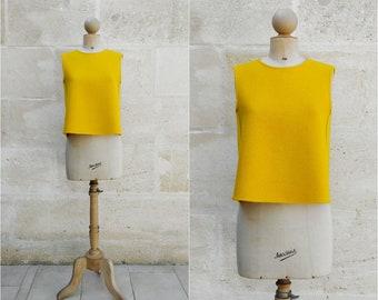 Yellow wool jacket