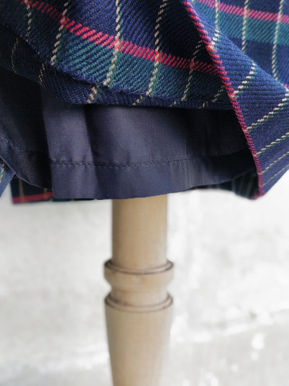 Cacharel tartan pattern skirt / Cacharel wool ski… - image 4