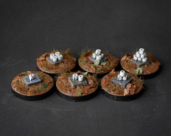 Toilet Paper Objective Set - 28mm Scale Resin Miniatures by MEP Miniatures