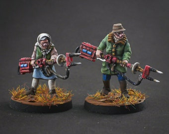 Pig Prodders - Stonegrave Farm - 28mm Miniatures by MEP Miniatures