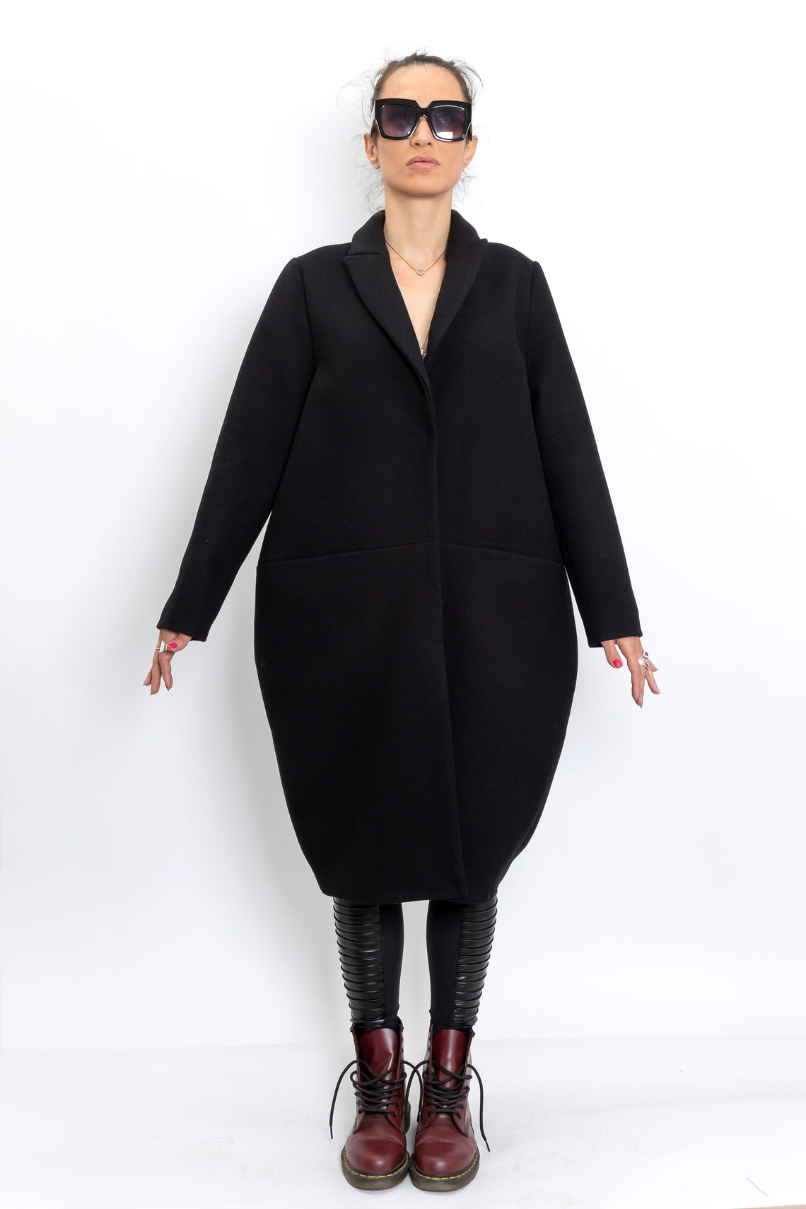 100 % Wool Coat From Our New Winter Collection, Handmade For Women, Fancy Oversized Coat, No Ordinary Cashmere