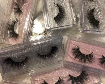 715a042dd73 Wholesale Mink Eyelashes -Whispy Styles -Start your own Mink Eyelash  Business, a dozen 100% mink 3D eyelashes
