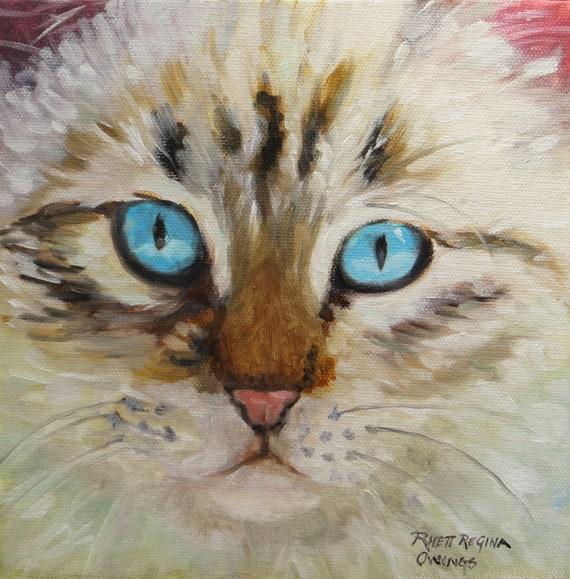 rabbit Original acrylic painting  \u201cJack\u201d by Rhett R Owings a mini painting