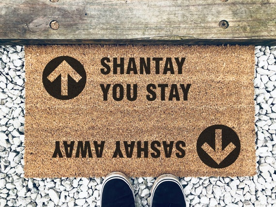 Ru Paul's Drag Race Sashay Away Shantay You Stay Funny Doormat by Etsy