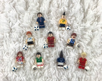 Custom LEGO Football Soccer Choice of Messi Ronaldo Neymar and any players