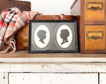 Double silhouette of boyS