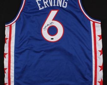 96d5fd23 Julius Erving Signed Philadelphia 76ers Jersey (Leaf COA)