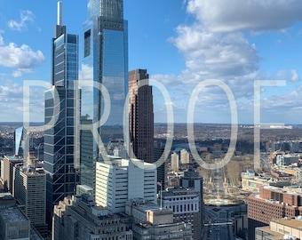 Philadelphia Skyline 5x7 Matted Photo