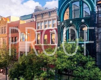 Philadelphia Chestnut Street 5x7 Matted Photo