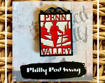 Philadelphia Penn Valley Scroll Work Enamel Pin