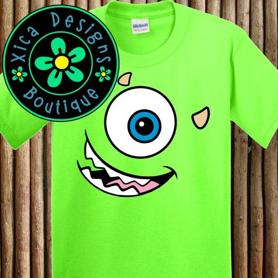 Monsters Inc Mike Wazowski Face Disney Costume Shirt Etsy