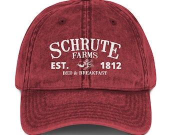 d6b8092659055 Schrute Farms Bed and Breakfast Vintage Cotton Twill Hat