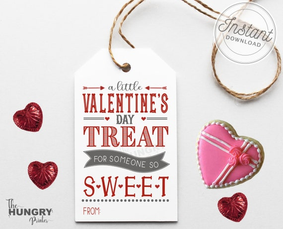 Printable Valentine Tags Printable Valentine's Day Tags
