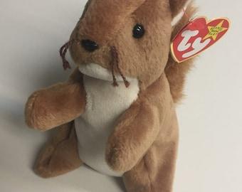 994e71d38c4 Rare Original Beanie Baby 1996 Nuts Squirrel
