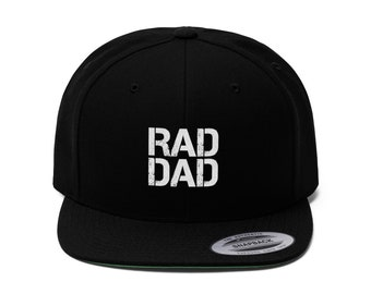 231025fa Rad Dad Cap Gift Embroidery Cap for Dad Radical Dad Gift Stylish Cool  Design Cap
