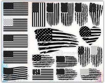 Special Bundle American Flag Svg American Flag Png American Etsy