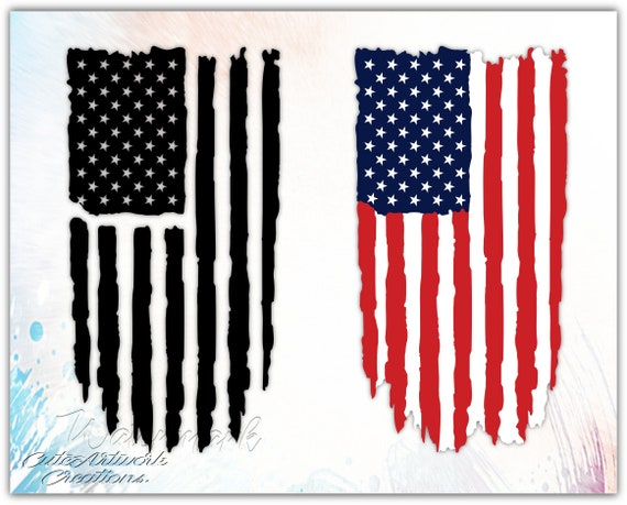 American Flag Svg American Flag Png American Flag Vector Etsy