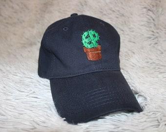 baf0f8309dc89c Cactus hat black | Etsy