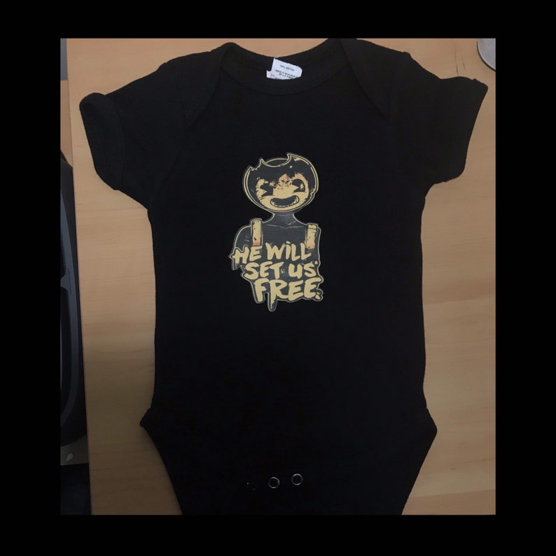 Bendy And The Ink Machine Shirt Bendy And The Ink Machine Iron on Bendy,Ink Machine Shirt Bendy And The Ink Machine He will set us free