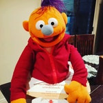 Hand Puppet with T-Shirt & Hoodie. Large-Sized, Hand-Made and High-Quality! 10% Goes to Kids Charity.
