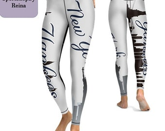 6c852ddd097 New York Yankees Baseball Leggings Sport Team Sexy Fitness Pants Women Gym