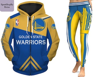 a20480dd Leggings and hoodies Uisex fashion NBA Golden State Warriors Basketball  Sweatshirts zipper 3d Print