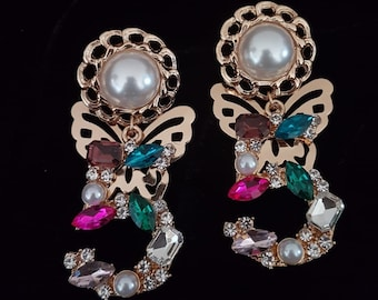 c742fd622a0 Chanel inspired earrings- gifts mother s day
