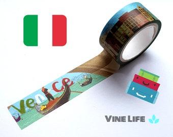 Venice Washi Tape,  City Landscape Washi Tape, Italy Washi Tape, Unique Washi Tape, Country theme, Travel theme,威尼斯胶带,城市胶带,和纸胶带,意大利