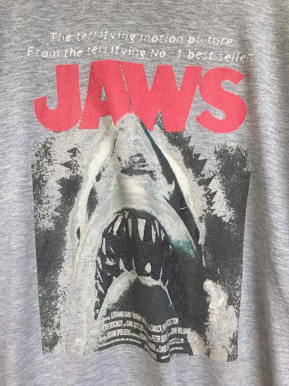 Vintage Jaws Movie T-Shirt Size Large Horror Movie