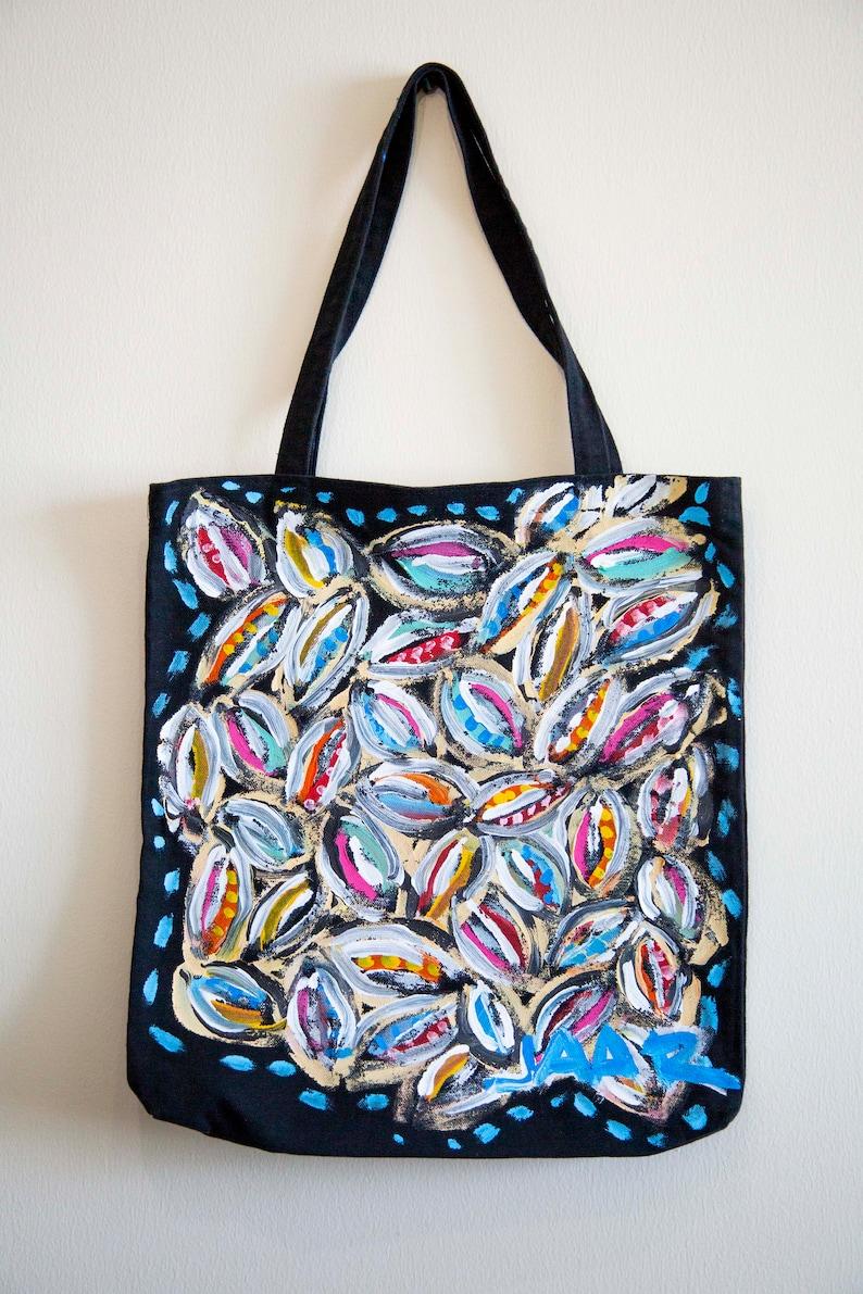 Mix Technique Painting tote bag Original Mexican ART Garden