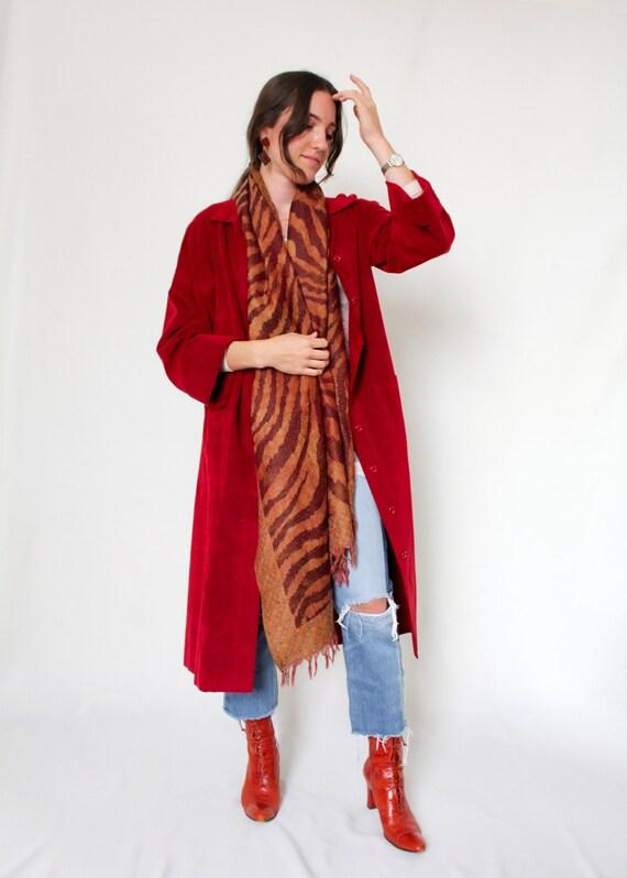 1970s Brick Red Suede Jacket