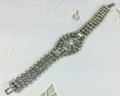 Super sparkly 1950s rhinestone bracelet