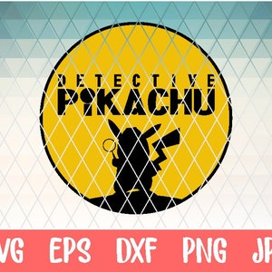 print file png transparent vector png clipart eps sublimation print dxf Detective Pikachu svg iron on transfer
