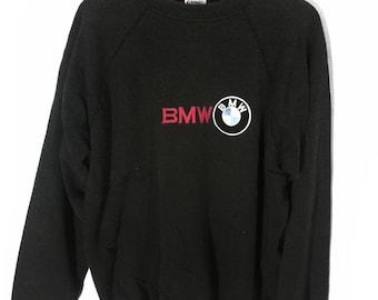 f3a7cf5aaf4e vintage bmw embroidery logo sweatshirt