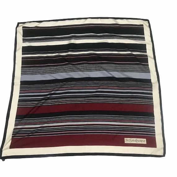Vintage ysl stripes silk scarf