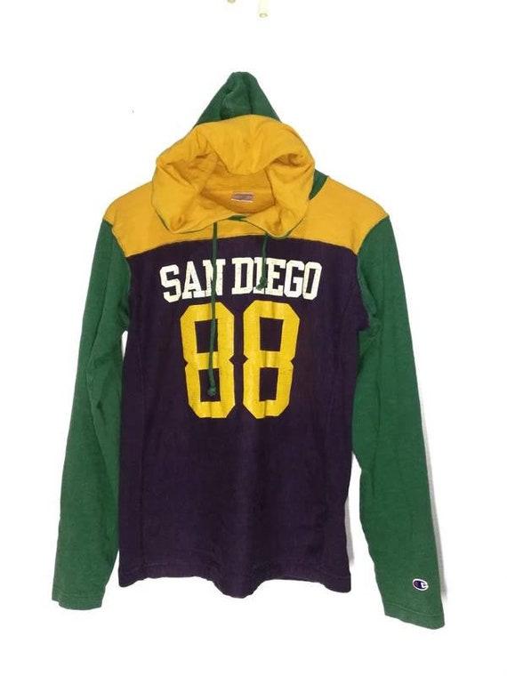 Vintage champion reverse weave multicolour hoodie