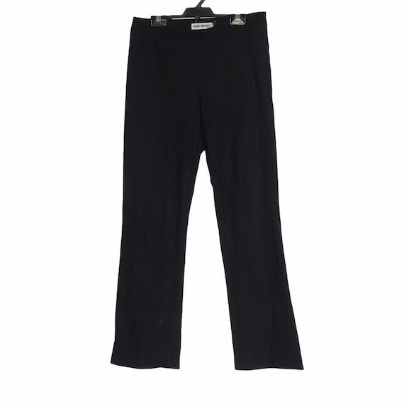 Issey miyake black stretches pants