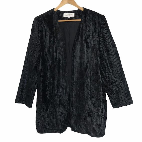Vintage yves saint laurent velvet pleated jacket