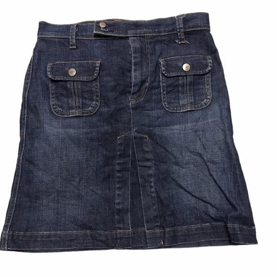Gap multi pockets denim skirt