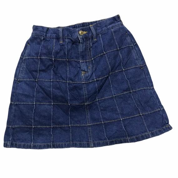 Browny standard patchwork denim skirt japan