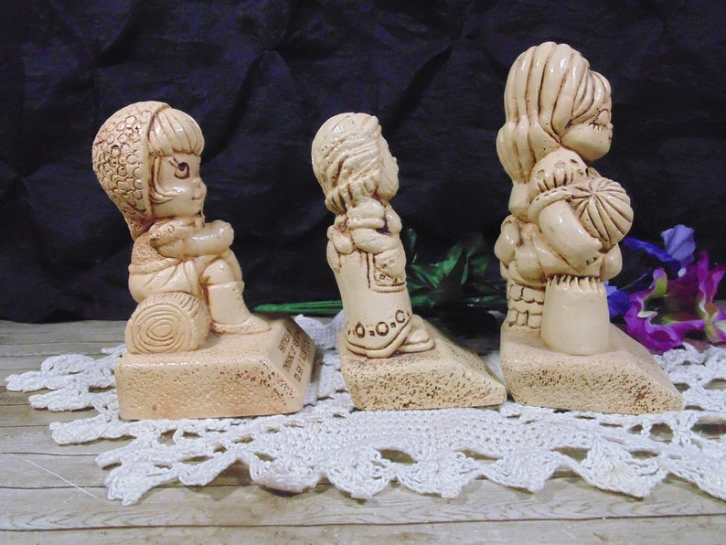 Vintage 1970s Paula silly sayings figurines wood composite 3 to choose from your choice