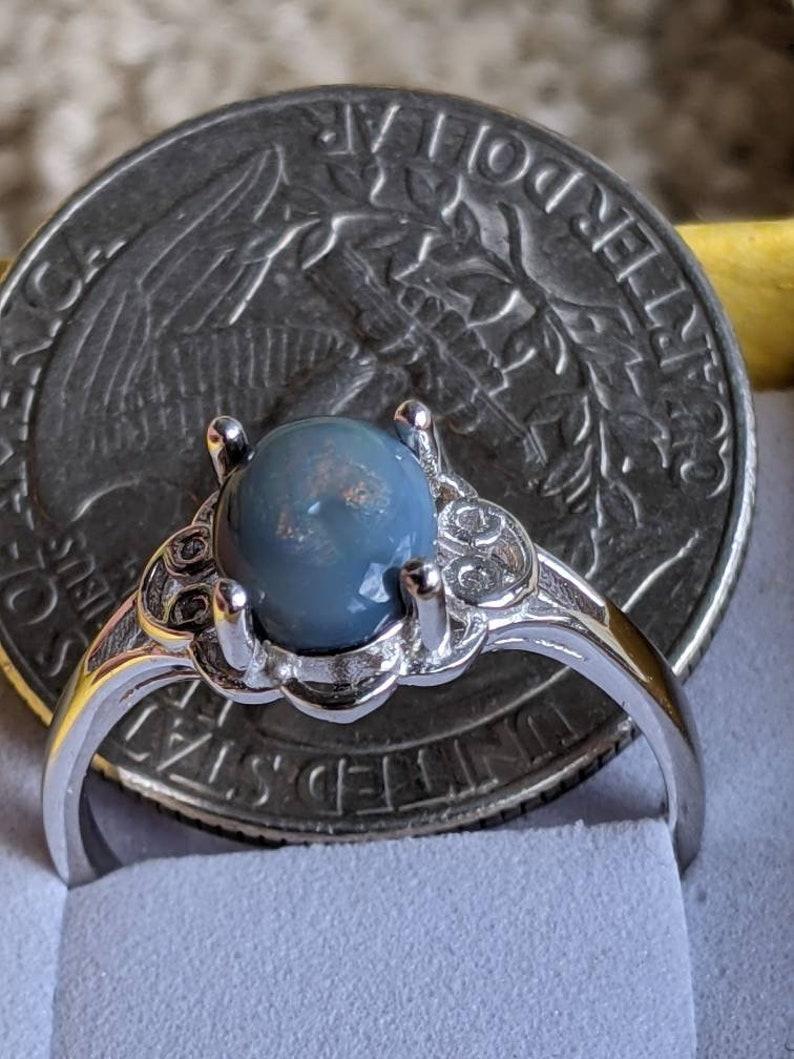 Semi Black Opal Ring