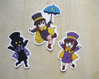 Cute Stickers inspired by A Hat in Time