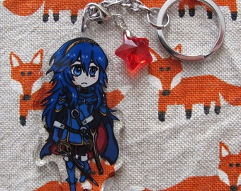 Cute Acrylic Charm Keychain inspired by Fire Emblem Lucina