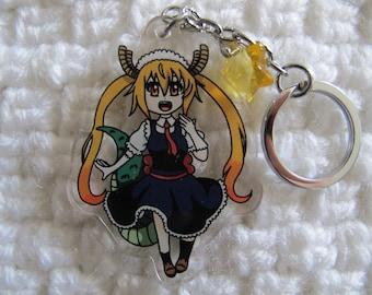 Cute Acrylic Charm Keychain inspired by Miss Kobayashi's Dragon Maid Tohru